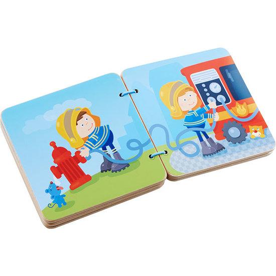 Haba Wooden Baby book Fire Brigade - Haba
