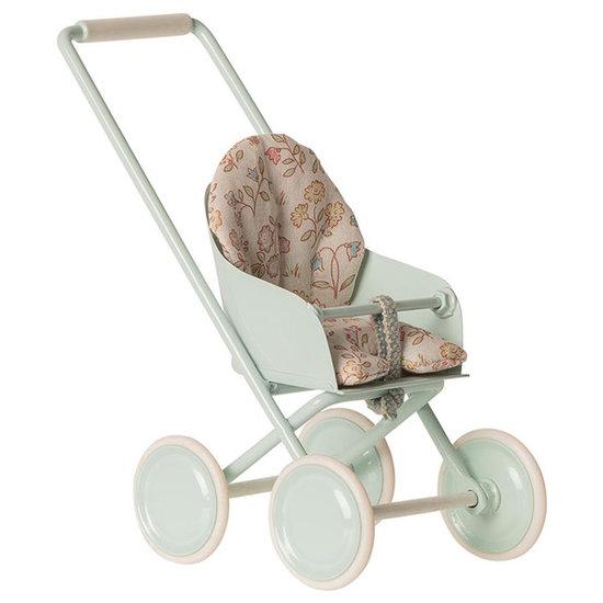Maileg Maileg stroller Sky blue micro