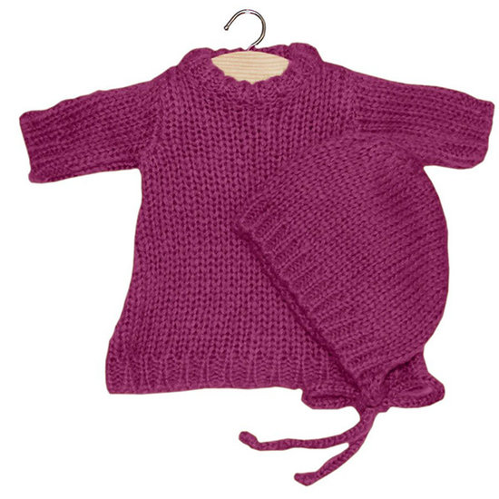 Minikane Doll dress set Gasparine Prune - Minikane