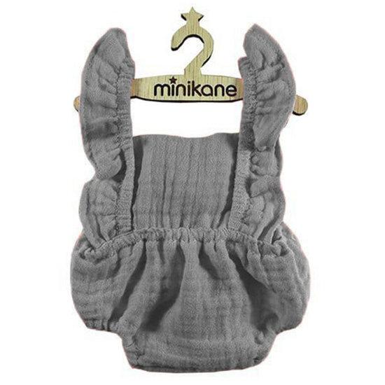 Minikane Vetement poupee barboteuse Lou gris - Minikane