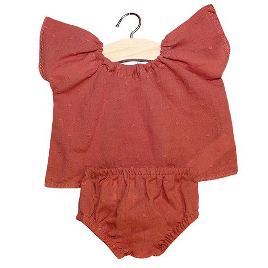 Minikane Doll clothes Goodnight set Marsala - Minikane