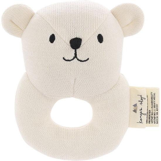 Konges Slojd Rattle Quro Mini Bear off white - Konges Sløjd