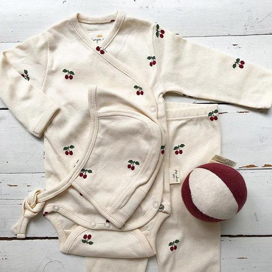 Konges Slojd Body long sleeve Newborn Cherry - Konges Sløjd