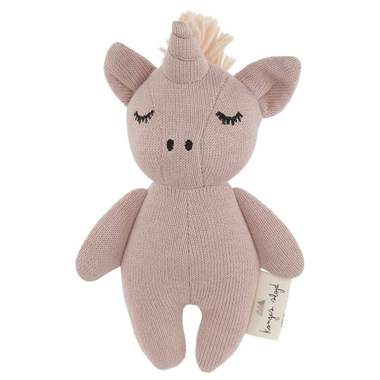 Konges Slojd Rattle Mini Unicorn Rose fawn - Konges Sløjd