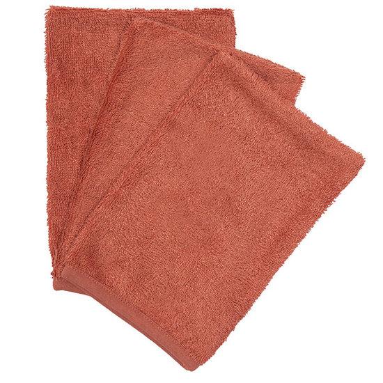 Timboo Washandjes Apricot blush set van 3 - Timboo