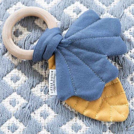 Little Dutch Knistertuch Blätter blau-ocker - Little Dutch