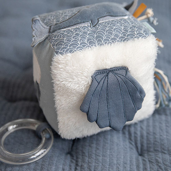 Little Dutch Activity cube Soft Ocean blue - Little Dutch