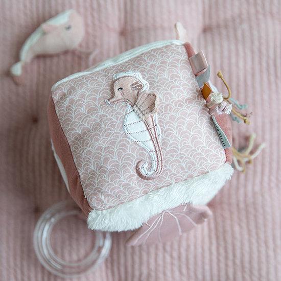 Little Dutch Activiteitenkubus Soft Ocean pink - Little Dutch