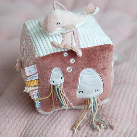 Little Dutch Activity cube Soft Ocean pink - Little Dutch