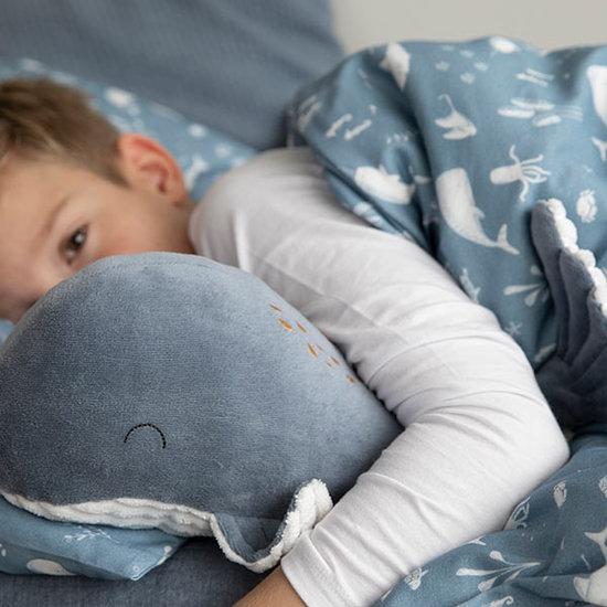 Little Dutch Knuffel walvis 35cm Ocean blue - Little Dutch