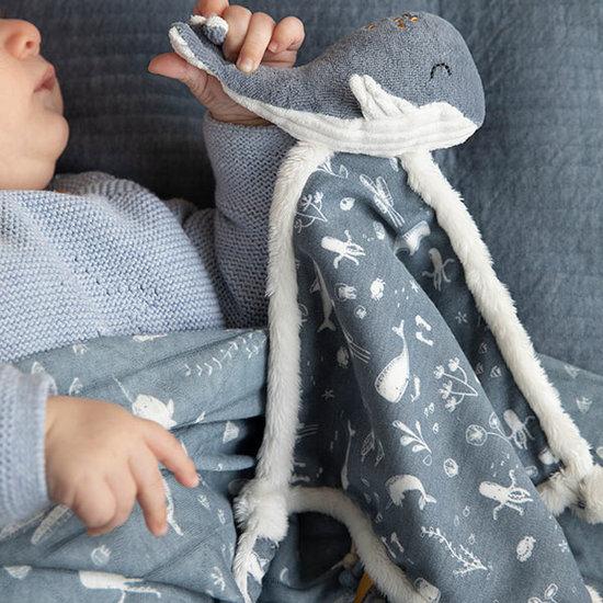 Little Dutch Baby comforter whale Ocean blue - Little Dutch