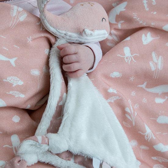 Little Dutch Knuffeldoekje walvis Ocean pink - Little Dutch