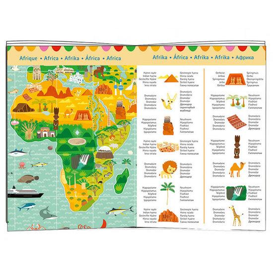 Djeco Djeco puzzel Reis rond de wereld 200st