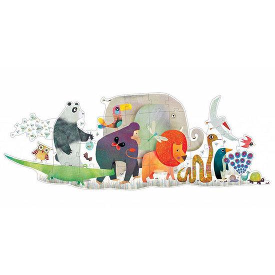 Djeco Djeco giant puzzle Animal Parade 36pcs