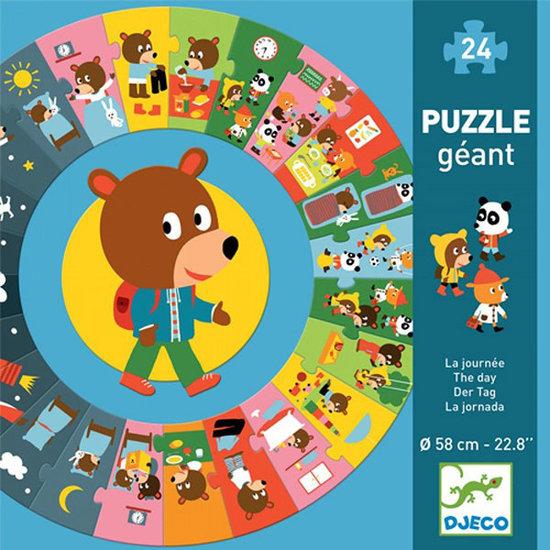 Djeco Djeco puzzle géant La journée - 24pcs