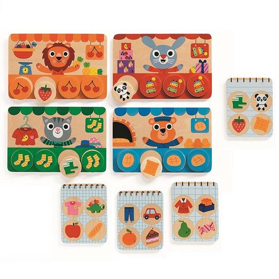 Djeco Memory Loto Shop boodschappen - Djeco