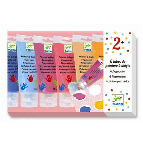 Djeco Finger paint sweet 6 tubes - Djeco