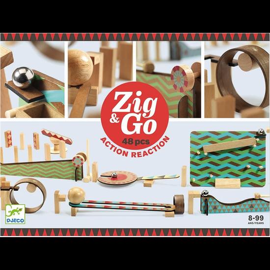 Djeco Djeco Zig & Go kettingreactie spel 48st