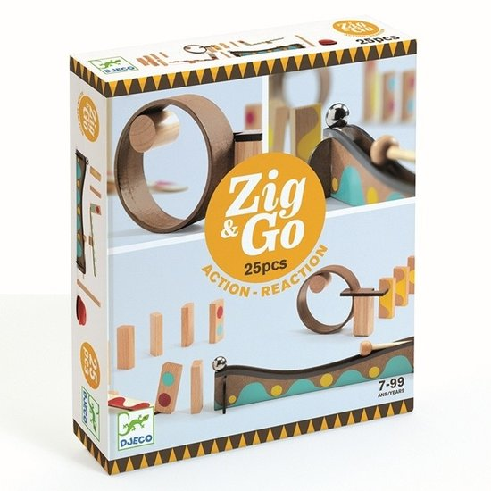 Djeco Djeco Zig & Go jeu de réaction en chaîne 25pcs