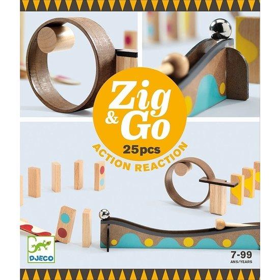 Djeco Djeco Zig & Go kettingreactie spel 25st