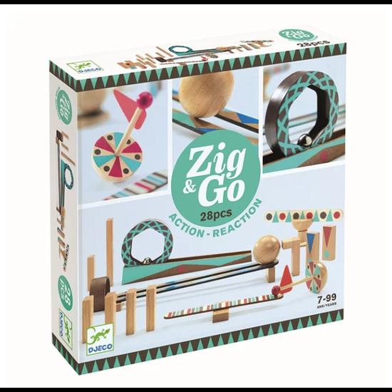 Djeco Djeco Zig & Go Kettenreaktion Spiel 28 Teilig