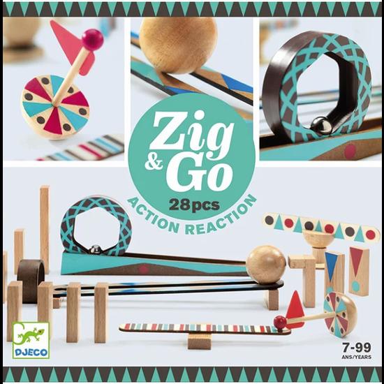 Djeco Djeco Zig & Go chain reaction game 28pcs
