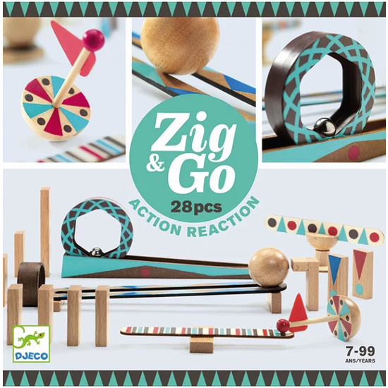 Djeco Djeco Zig & Go jeu de réaction en chaîne 28pcs