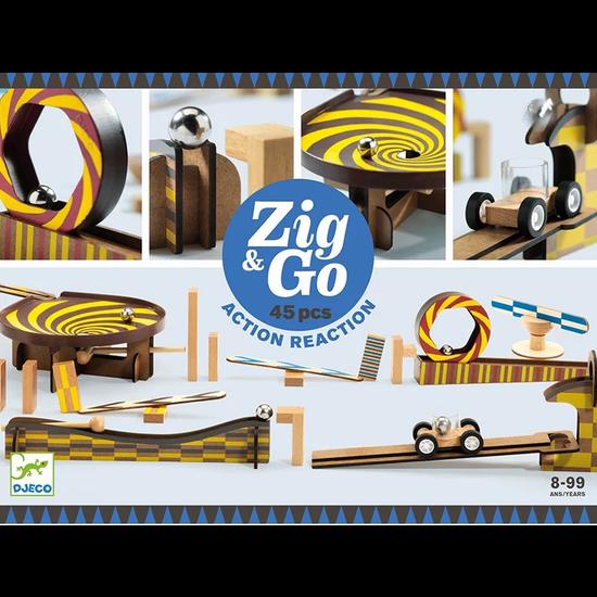 Djeco Djeco Zig & Go chain reaction game 45pcs
