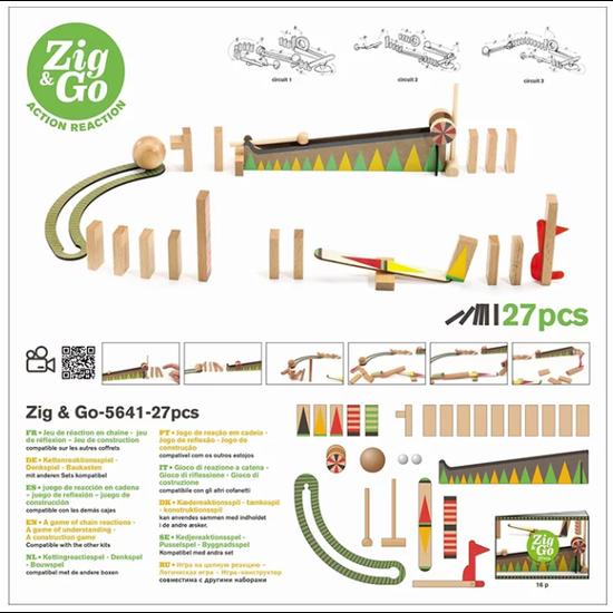Djeco Djeco Zig & Go kettingreactie spel 27st