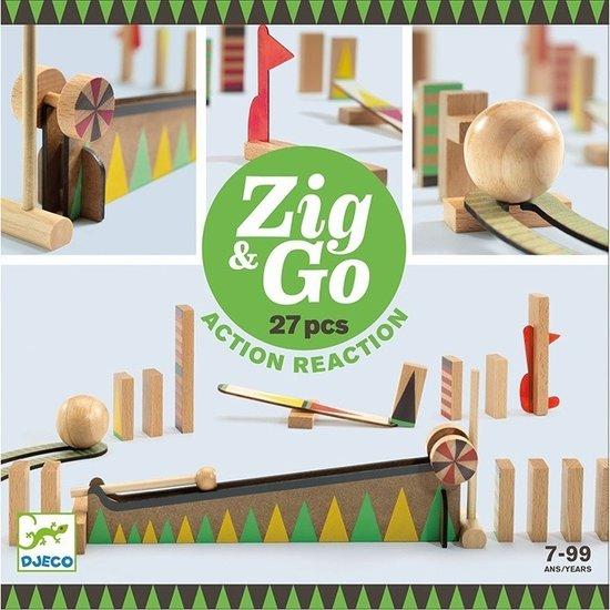 Djeco Djeco Zig & Go Kettenreaktion Spiel 27 Teilig