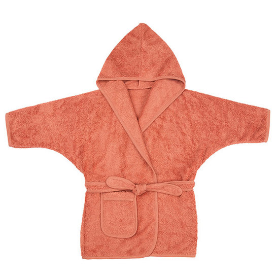 Timboo Bademantel Apricot blush 2-4 Jahre - Timboo