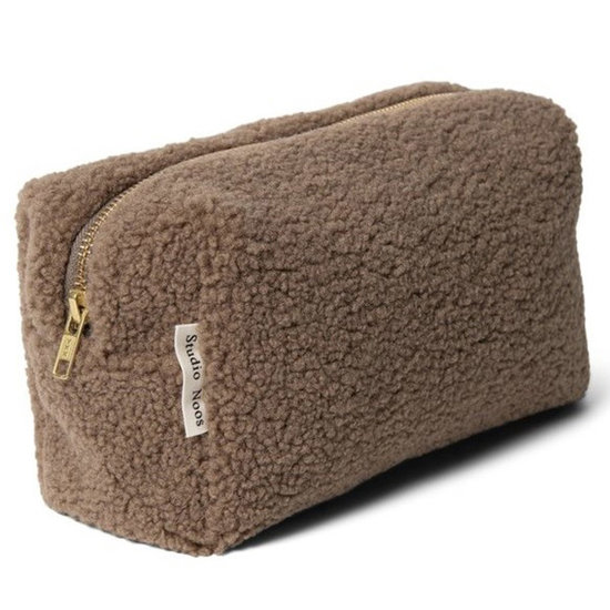 Studio Noos Studio Noos toilettas Chunky pouch teddy brown