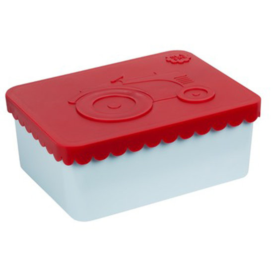 Blafre Lunch box tractor red-light blue Blafre