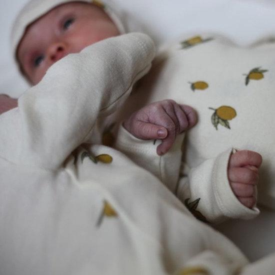 Konges Slojd Body long sleeve Newborn Lemon - Konges Sløjd