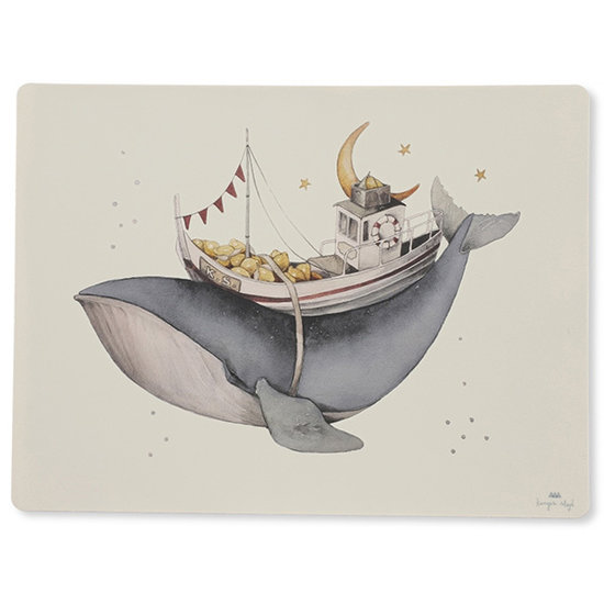 Konges Slojd Konges Sløjd Silikon Tischset Whale