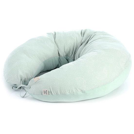 Nobodinoz tipi en accessoires Pregnancy pillow White Bubble-Aqua Mint