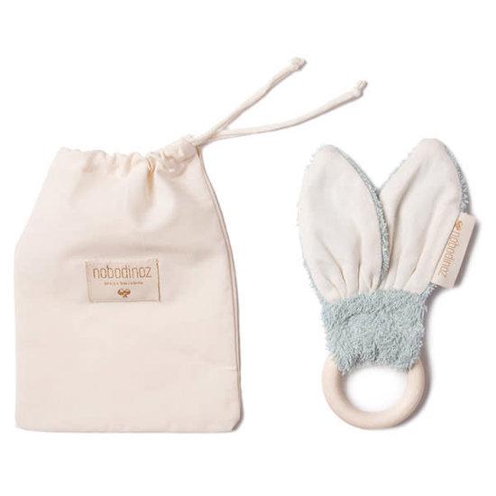 Nobodinoz tipi en accessoires Bijtring Bunny Green 7cm Nobodinoz
