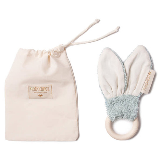 Nobodinoz tipi en accessoires Teether Bunny Green 7cm - Nobodinoz