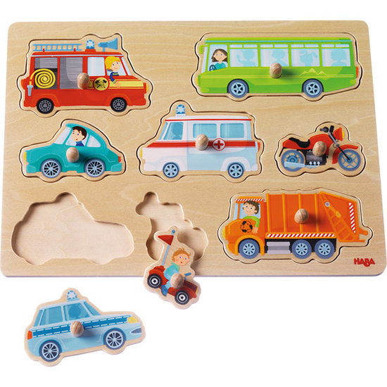 Haba Haba clutching Puzzle World of vehicles