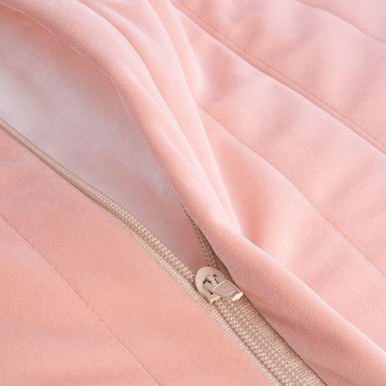 Nobodinoz tipi en accessoires Zitzak Essaouira Velvet Bloom Pink Nobodinoz