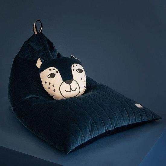 Nobodinoz tipi en accessoires Kissen Leopard Night Blue Nobodinoz