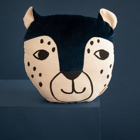 Nobodinoz tipi en accessoires Cushion Leopard Night Blue Nobodinoz