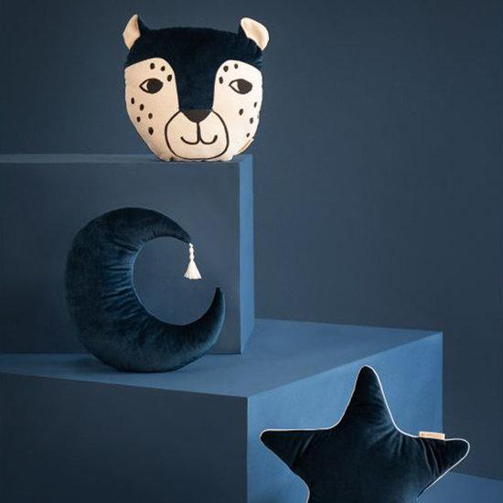 Nobodinoz tipi en accessoires Kussen Luipaard Night Blue - Nobodinoz