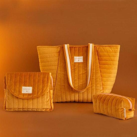 Nobodinoz tipi en accessoires Nobodinoz Kulturbeutel Savanna Farniente Yellow