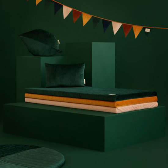 Nobodinoz tipi en accessoires Kussen Palma Velvet Jungle Green - Nobodinoz