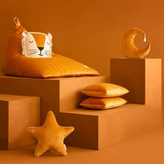Nobodinoz tipi en accessoires Kissen Pierrot Moon Farniente Yellow - Nobodinoz