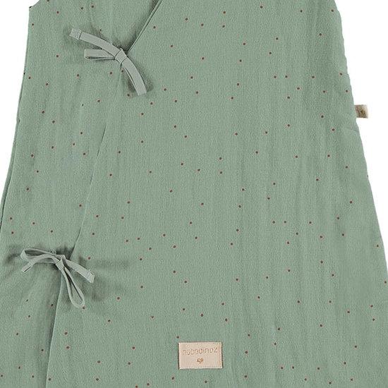 Nobodinoz tipi en accessoires Nobodinoz Dreamy zomerslaapzak Sweet Dots-Green