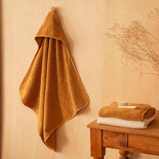 Nobodinoz tipi en accessoires Baby towel-bath cape 73cm Caramel Nobodinoz