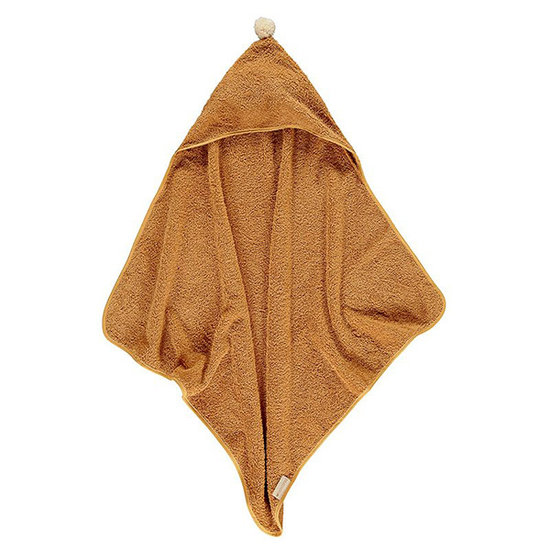 Nobodinoz tipi en accessoires Kapuzenhandtuch So Cute 73cm Caramel - Nobodinoz