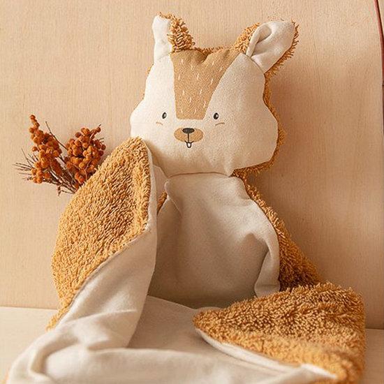 Nobodinoz tipi en accessoires Knuffeldoekje Squirrel Caramel - Nobodinoz